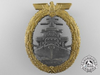 A Near Mint Kriegsmarine High Seas Fleet Badge by Schwerin
