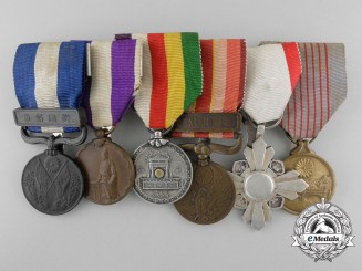 A Japanese Order of the Auspicious Clouds Award Grouping