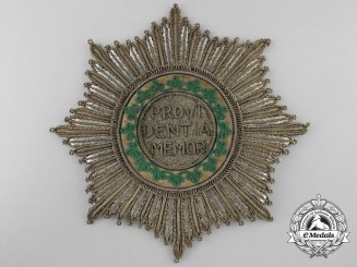 A Rare 1820-30 Saxon Royal House Order of the Rue Crown; Breast Star