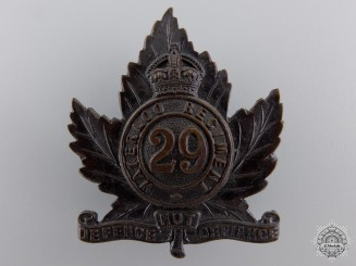 Canada, CEF. A 29th Waterloo Regiment Cap Badge