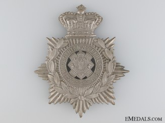 A 2nd Midlothian & Peebles Rifle Volunteers Helmet Plate