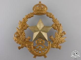 A 2nd Volunteer Battalion Cameronians (Scottish Rifles) Helmet Plate