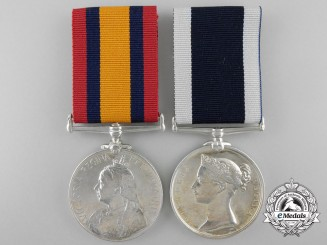 A Pair to Chief Yeoman of Signals Ash who was wounded aboard HMS Niobe at the Dardanelles