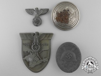 Four Second War German Awards, Badges, and Insignia