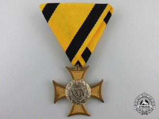 An Austrian 24 Year Long Service Cross