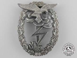 "A Luftwaffe Ground Assault Badge; Marked ""M.u.K. 5"""