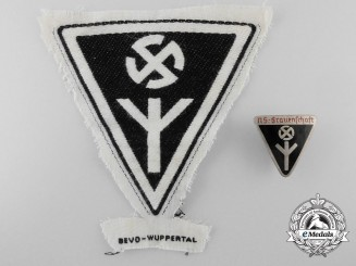 Two National Socialist Women's League Badges & Insignia