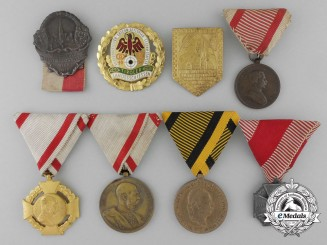 Eight Austrian Medals, Badges, and Awards