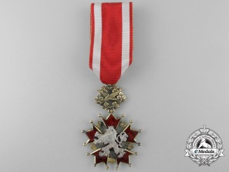 A Czechoslovakian Order of the White Lion; 5th Class Knight