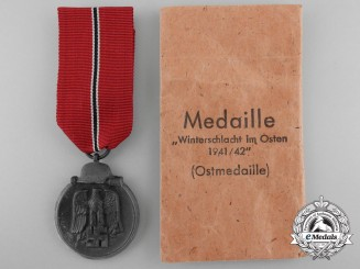 A 1941/42 East Medal with Packet by Steinhauer & Luck