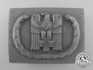 A Second War German Red Cross EM/NCO's Belt Buckle by Josef Feix Söhne