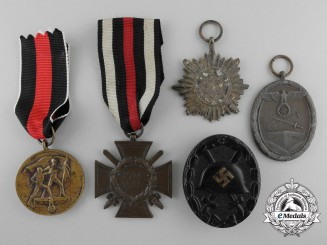 Six Second War German Medals and Badges