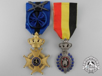 Two Belgian Orders & Decorations