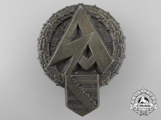 A Large Saxon SA Meeting Day Badge