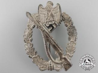 A Near Mint Tombac Infantry Assault Badge; Silver Grade