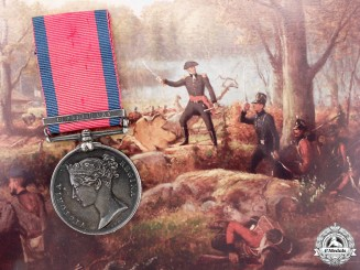 A Military General Service Medal to Private Aljoe of the Canadian Voltigeurs