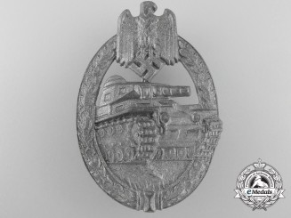 A Mint Silver Grade Tank Badge by Hermann Aurich