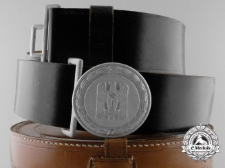 A Red Cross Officer's (Leader's) Belt with Buckle in Carrying Case; Published Example