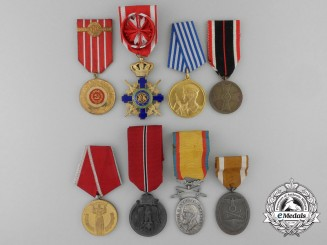 Bulgaria (People's Republic), Germany (Third Reich), Romania (Kingdom, Socialist), Yugoslavia (Socialist). Lot of Eight Medals