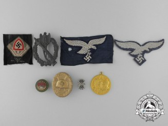 A Lot of Eight European Medals, Decorations, and Badges