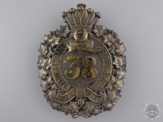 A 38th Dufferin Rifles Battalion Helmet Plate