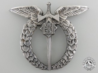 A Second War Czechoslovakian Air Force Pilot's Badge by Spink