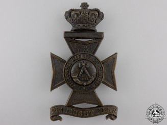 A 3rd Battalion Victoria Rifles Helmet Plate