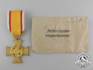 A 1914 Lippe-Detmold War Merit Cross with Packet