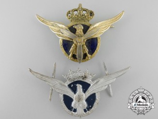 Spain, Fascist State. Two Military Transport Pilot Insignia