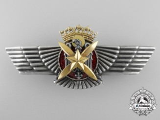 A Fine Spanish Pilots Wing in Solid Silver