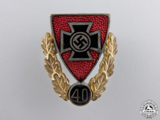 A 40 Year Veteran's Membership Badge