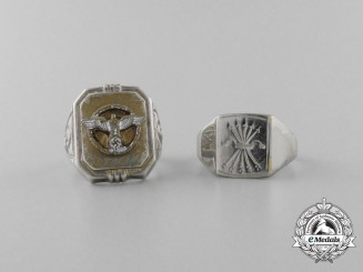 Two German Made Second War Period Rings