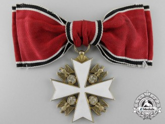 A German Eagle Order; 5th Class by Godet of Berlin on Lady's Ribbon