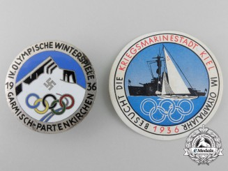 Two 1936 Berlin Olympic Games Related Items