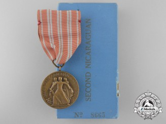 An American Second Nicaraguan Campaign Medal with Box of Issue