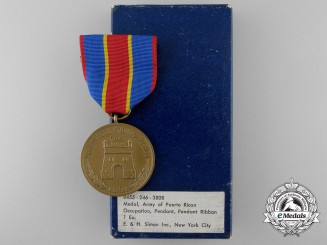 An American Army of Puerto Rican Occupation Medal 1898 with Box of Issue
