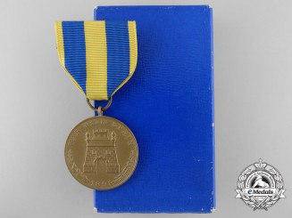 An American Army Spanish Campaign Medal with Box of Issue
