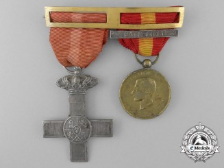 A Spanish Civil War of 1873-1874 Order of Military Merit Pair