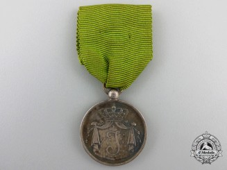 A Dutch Army Long Service Medal; Silver Grade