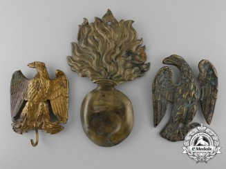 France, Napoleonic Period. Three Regimental Badges