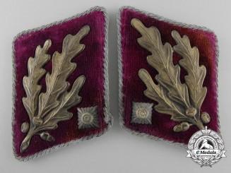 A Set of  SA (Sturmabteilungen) Obergruppenführer Gruppe Westfalen Collar Tabs