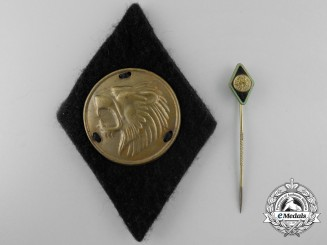 A Weimar Republic Bund Freikorps Epp Sleeve Badge and Stickpin