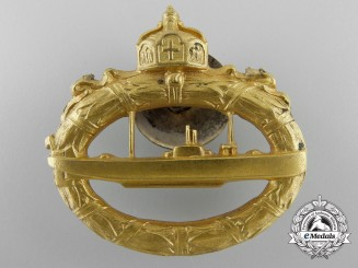 A German Imperial Submarine War Badge by Walter Schott