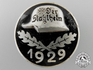 A Weimar Republic Der Stahlhelm Veteran's Association Membership Badge 1929