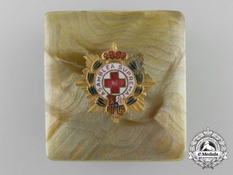 Spain, Kingdom. A Miniature Red Cross Supreme Assembly Star 1926-1931