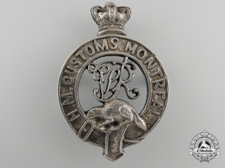 A Rare Victorian Montreal Canadian Customs Cap Badge