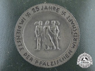 A Very Rare Province of Pfalz 25 Year Service in the Economy Badge