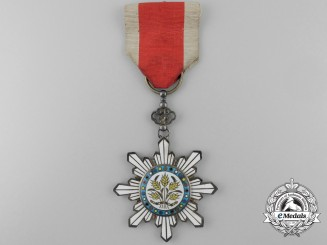 A Chinese Republic Order of the Golden Grain; Fifth Class Officer