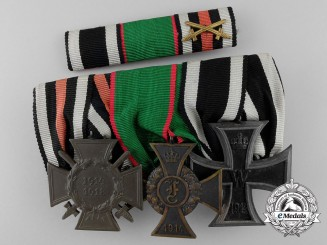 An Anhalt First War German Imperial Medal Bar