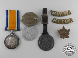 A War Medal Group to Gunner Cecil J. Ward, 40th Battery, Canadian Field Artillery